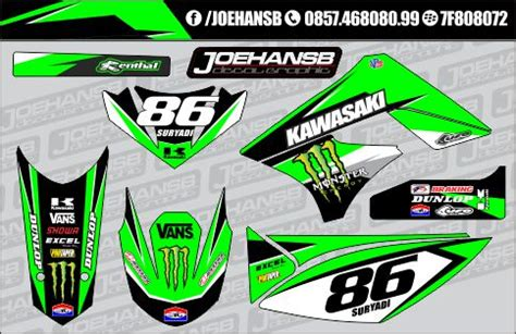 Decal Striping Sticker Klx 028 Glossy klx 150cc green joehansb decal graphic