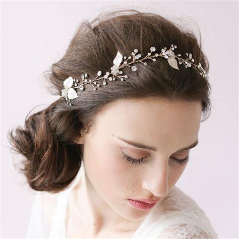 accessories for hair silver leaf wedding hair accessories wa o012 forbridals forbridals