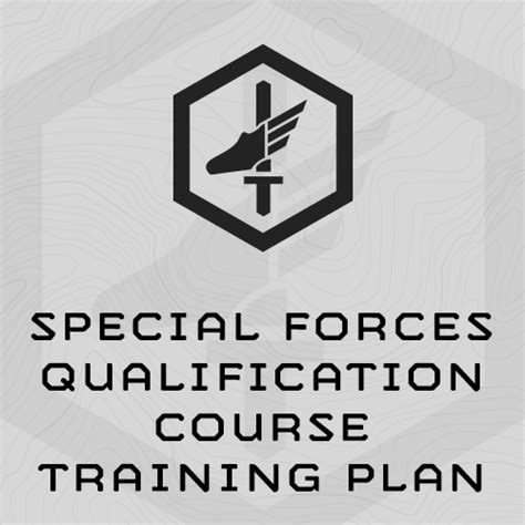 special forces qualification course plan