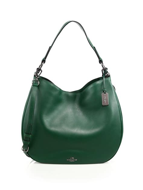 Tas Coach Crosby Mini Green coach bag green leather