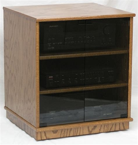 audio cabinet with doors modern component stereo cabinet with glass doors 53 quot high