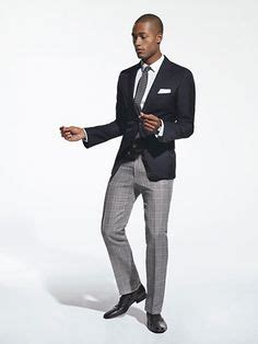 mens navy blazer with grey with checked shirt