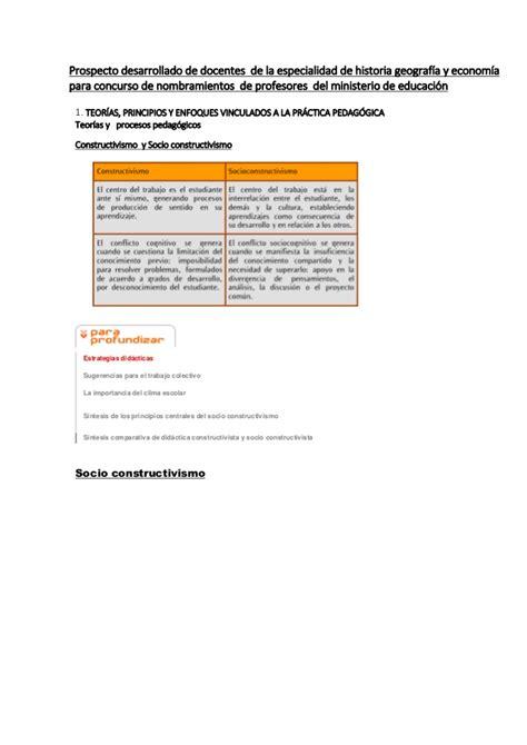 balotario desarrollado para el concurso de nombramiento de prospecto desarrollado de la especialidad de historia