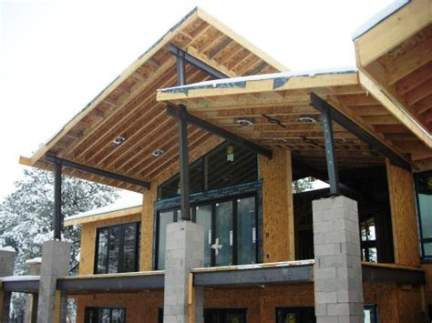 house trusses design steel truss design for custom home evstudio architect engineer denver evergreen
