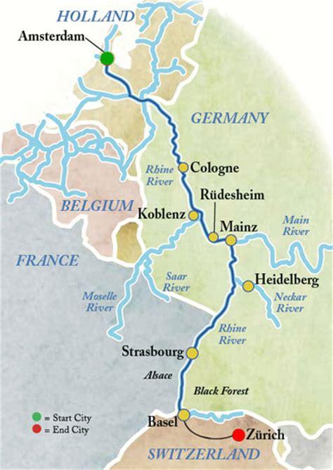 rhine germany map rhine cruise koln and frankfurt germany