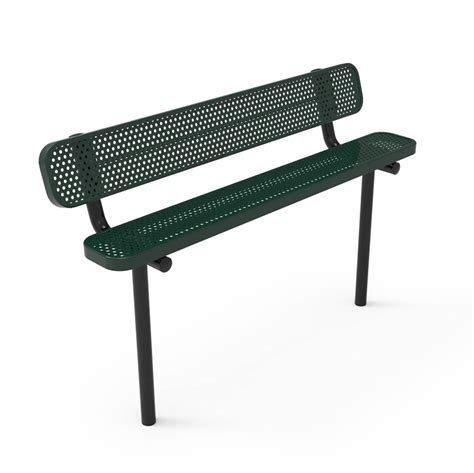 thermoplastic benches rhino 6 ft bench with back thermoplastic perforated metal