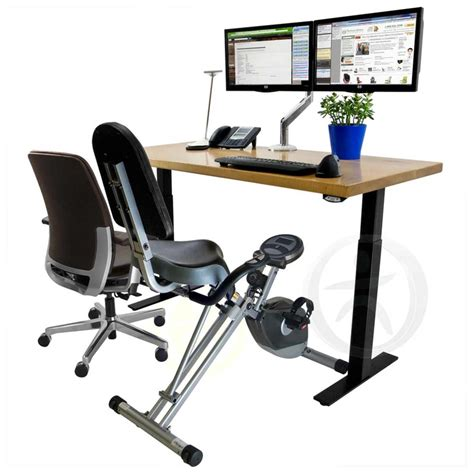 bicycle bicycle under desk