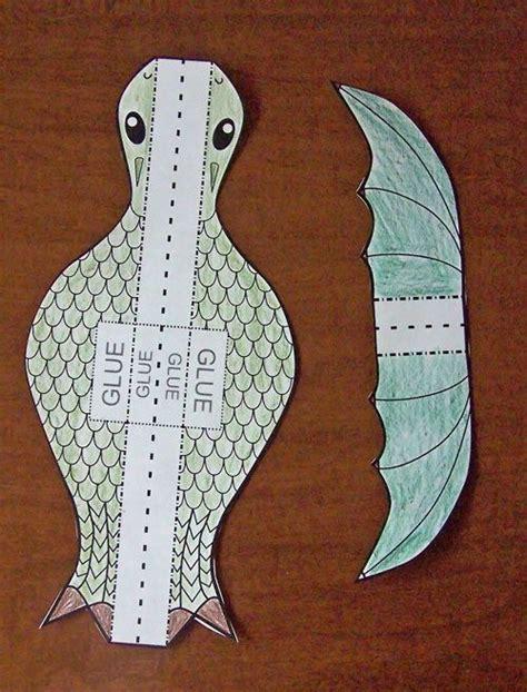 printable paper dragon printable flying dragon craft crafts paper and dragon