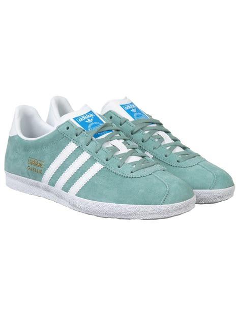 adidas originals gazelle og shoes legend green footwear from buddha store uk