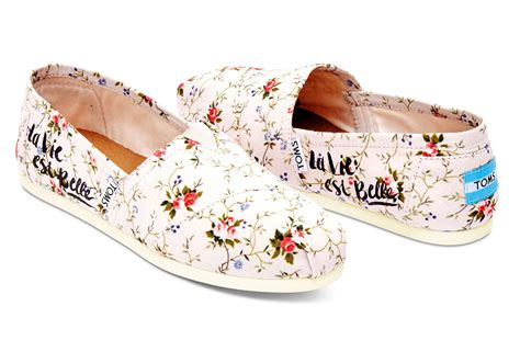 flower pattern shoes toms flower pattern slip on shoes floral buyma