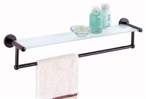 bathroom glass shelf with towel bar bathroom shelf with towel bar