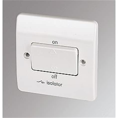 mk 10a 3 pole lockable fan isolator switch white