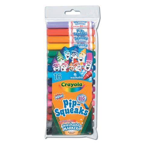 Crayola Washable Pip Squeaks Kit crayola pip squeaks washable markers 16ct