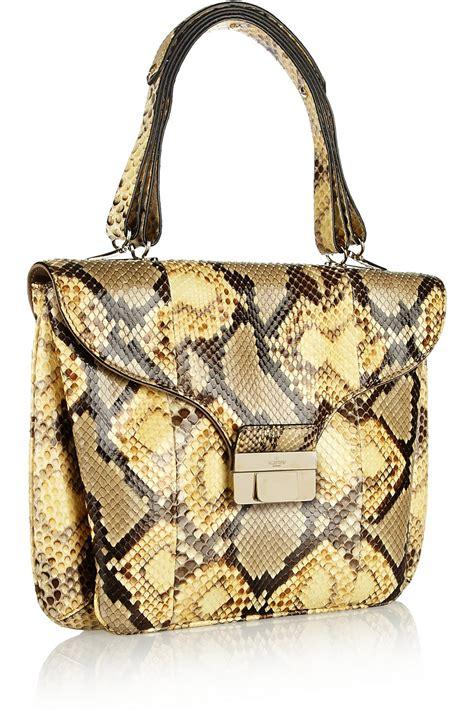 Lanvin Odette Pyhton by Valentino Python Shoulder Bag In Yellow Lyst