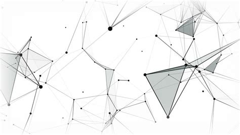 network pattern definition network animation connected dots on white background