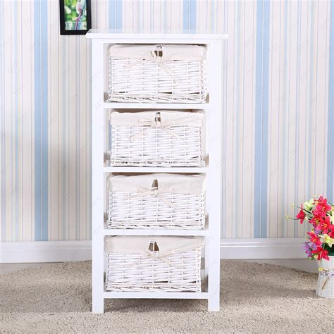 white bedroom units white wooden vanity cabinet storage units w 4 wicker