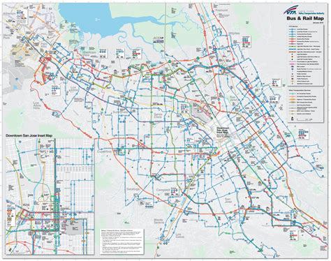 san jose city map san jose and rail map
