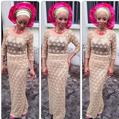lace and wrapper style in nigeria nigerian blouse and wrapper styles google search