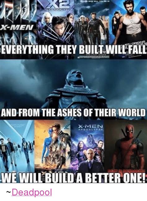 X Meme - everything they built will fall and from the ashesoftheir