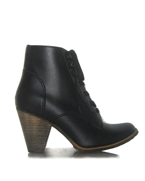funky cone heeled vegan ankle boots vegan shoe addict