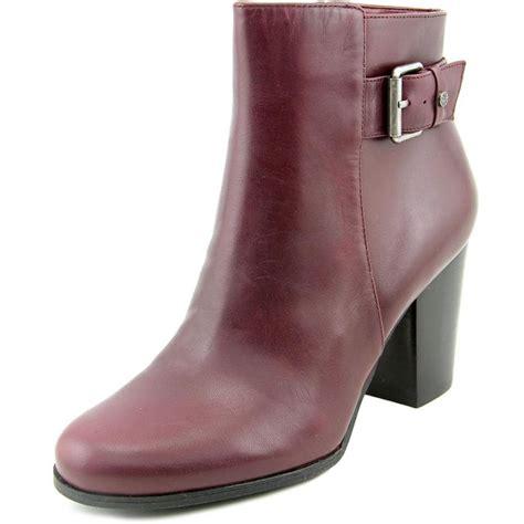 Maroon Bathroom Decor Isaac Mizrahi Sally Women Leather Burgundy Ankle Boot Boots