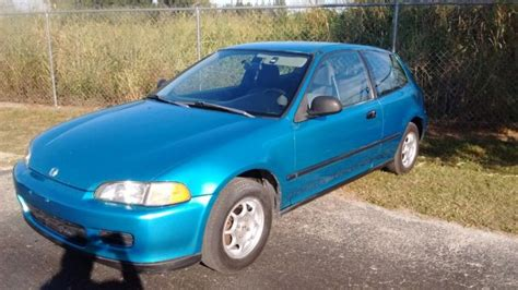 1992 honda civic vx hatchback 5 speed manual trans low miles economy vtec 51mpg for sale photos