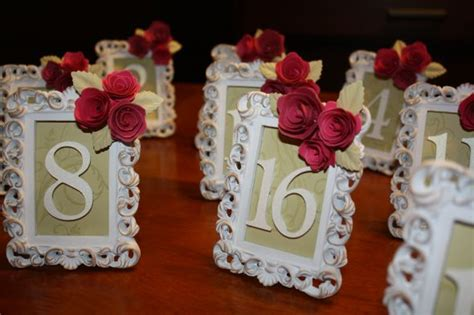 Papercraft Wedding - my at table numbers weddingbee photo gallery