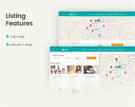 themeforest listing vendor directory wordpress theme wedding vendor by