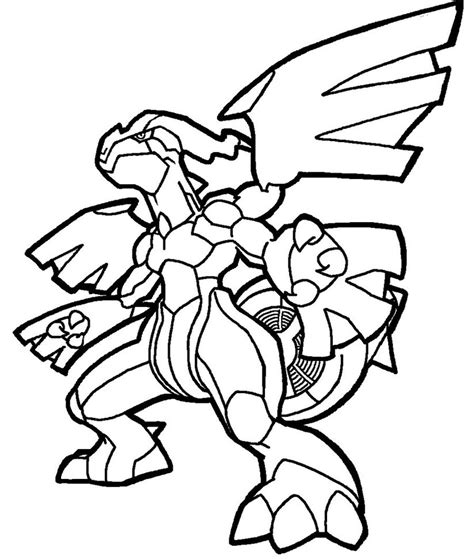 pokemon coloring pages zekrom zekrom lineart by yumezaka on deviantart