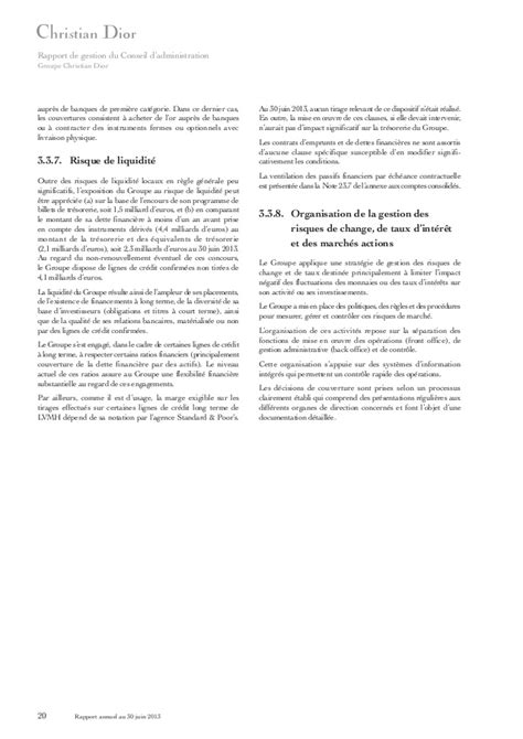 Christian Dior - Rapport Annuel (FR)
