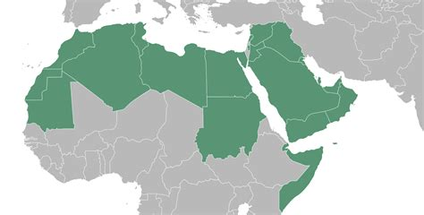 blank map of arab world map of arab country