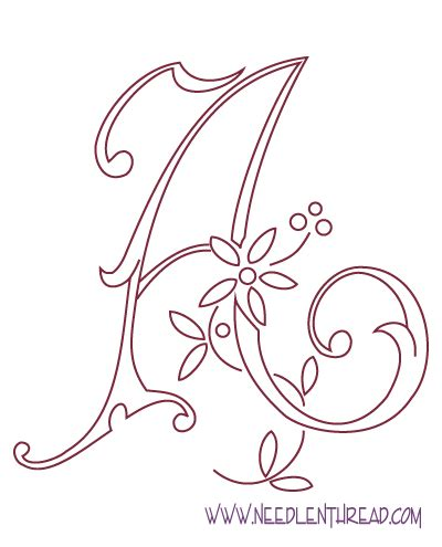 Free Pattern Monogram For Hand Embroidery Needlenthread Com Monogram Letters Template