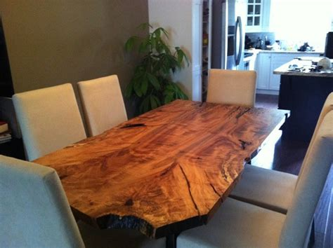 Maple Live Edge Dining Table Eclectic Dining Room