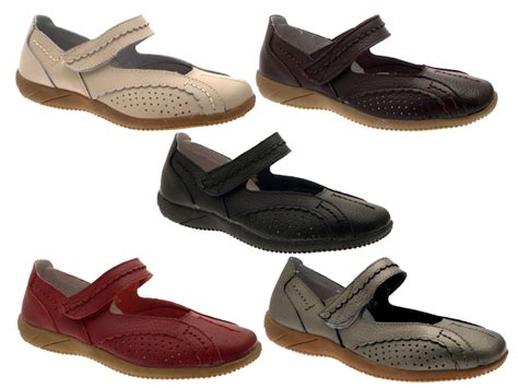 Comfort Flat Shoes by Womens Leather Wide Casual Comfort Flat