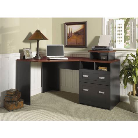 Bush Furniture Wheaton Reversible Corner Desk Smart Use Of Space With Corner Desk Blogbeen
