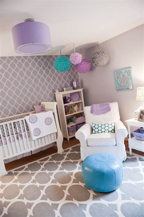 grey baby bedroom gray purple teal pink nursery this would be so