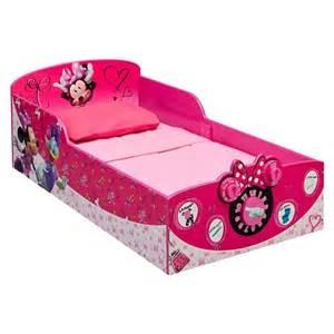 Minnie Mouse Toddler Bed Set Target Disney Interactive Wood Toddler Bed Minnie Target
