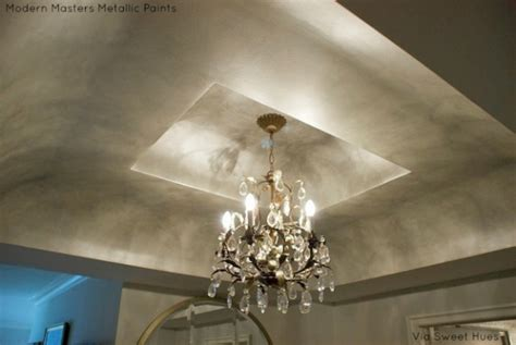 paint for ceiling metallic paint on ceilings modern masters cafe