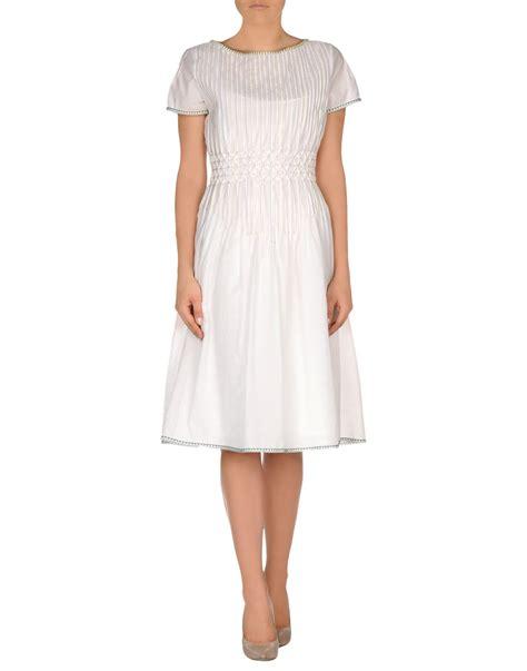 Vumeta Dress 1 bottega veneta knee length dress in white lyst
