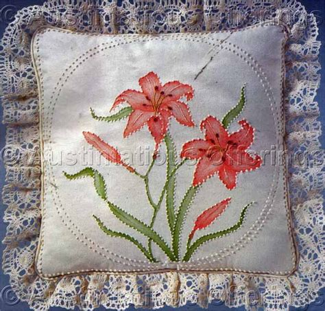 crewel pillow kits jean fox candlewicking crewel embroidery floral