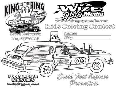 coloring pages of derby cars disney pixar cars 3 demo derby smash crash stunt set