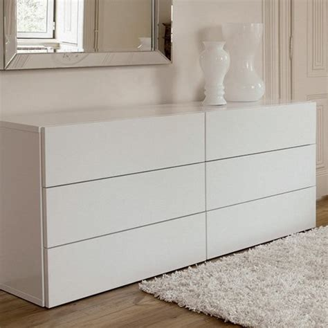 bedroom chests and dressers aurora 6 drawer white dresser modern dressers by