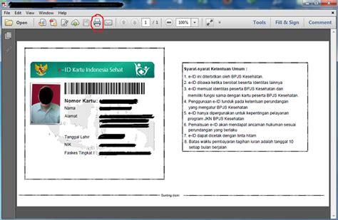 cara buat e ktp sendiri cara cetak id card bpjs seukuran ktp