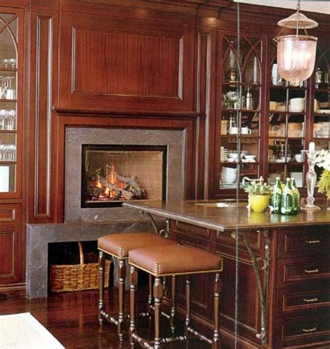 kitchen fireplace ideas 25 best ideas about fireplace in kitchen on