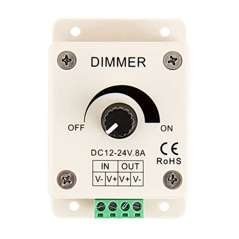 dimmer light l ldk 8a 12 24 volt dc single color led dimmer single