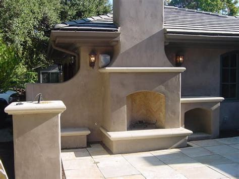Fireplace And Bbq Center by Stucco On Your Outdoor Bbq Fireplace Or Entertainment