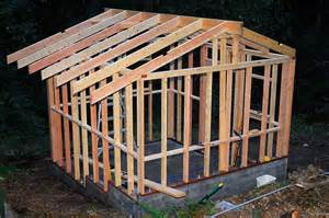 How To Frame A Roof For A Shed by The Goat Shed Part Ii Curbstone Valley