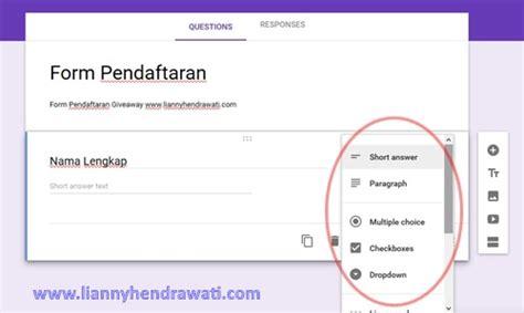 langkah membuat google form cara membuat formulir online menggunakan google forms