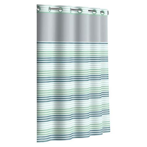 where to buy hookless shower curtains flex on by hookless ombre stripe shower curtains ebay