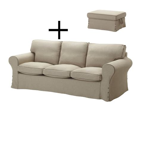 ikea sofa and footstool ikea ektorp 3 seat sofa and footstool cover slipcovers